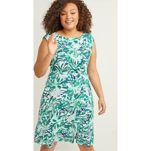 Lane Bryant floral fit & flare dress NWT